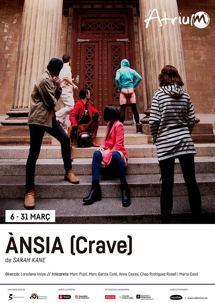 Ànsia (CRAVE), de Sarah Kane, dirigido por Loredana Volpe (Cía. La Salamandra)